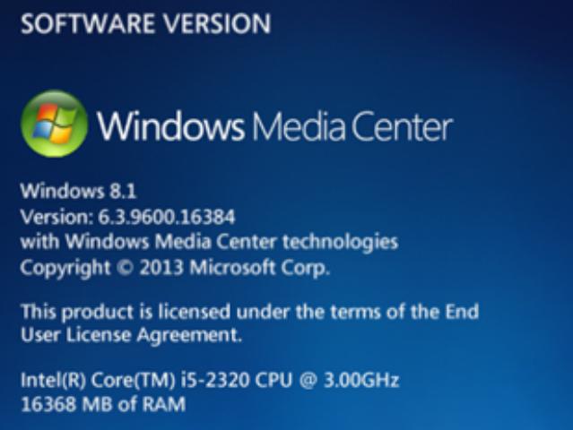 Microsoft verabschiedet sich von Windows Media Center (WMC). (Screenshot: ZDNet.com)