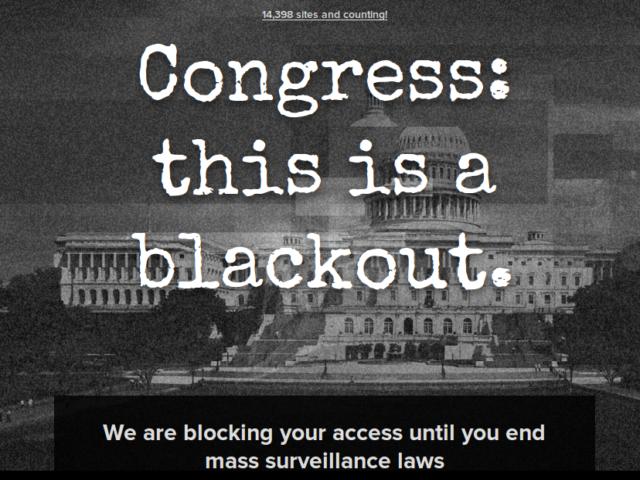 Protest gegen Überwachung. (Screenshot: ZDNet)