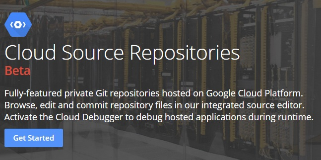 Googles Cloud Source Repositories (Screenshot: ZDNet.de)