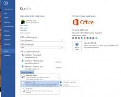 """Über die Registerkarte """"Datei"""" lassen sich Cloudspeicher an Office 2013-Programme anbinden, auch OneDrive for Business. (Screenshot: Thomas Joos)"""