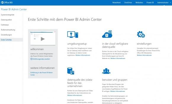 Office 365 Power BI lässt sich direkt in die Weboberfläche und Infrastruktur von Office 365 einbinden. (Screenshot: Thomas Joos)