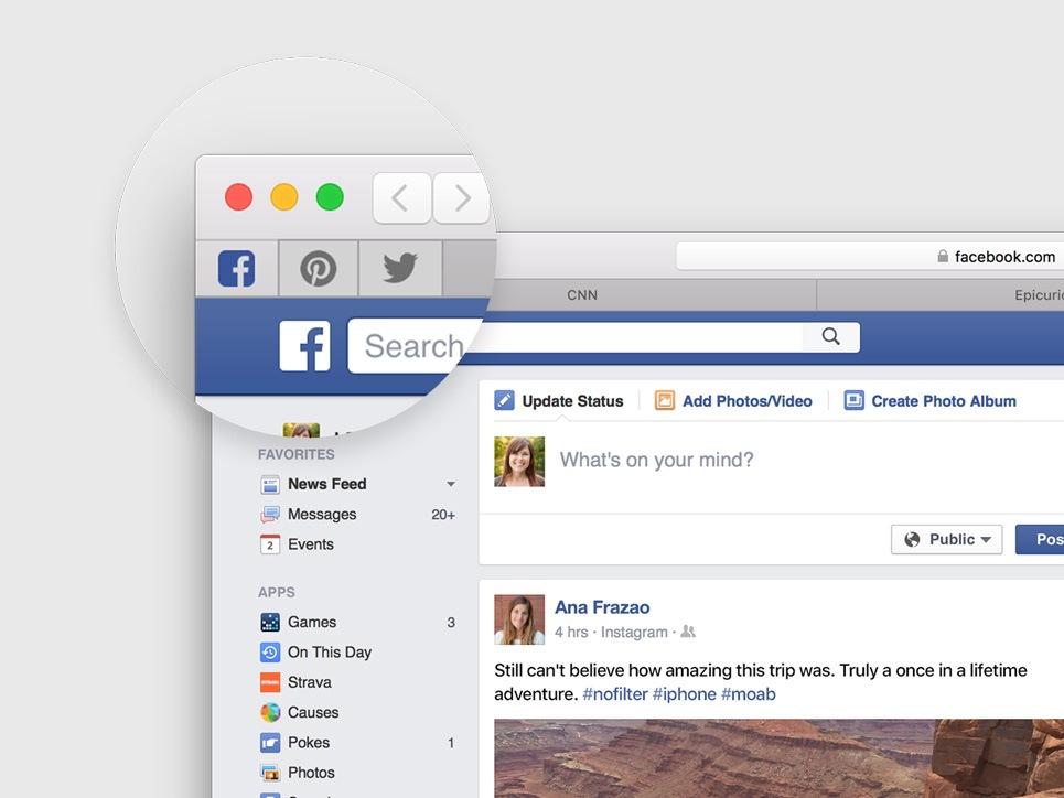 Nutzer können künftig Websites an die Tab-Leiste von Safari anpinnen (Bild: Apple).