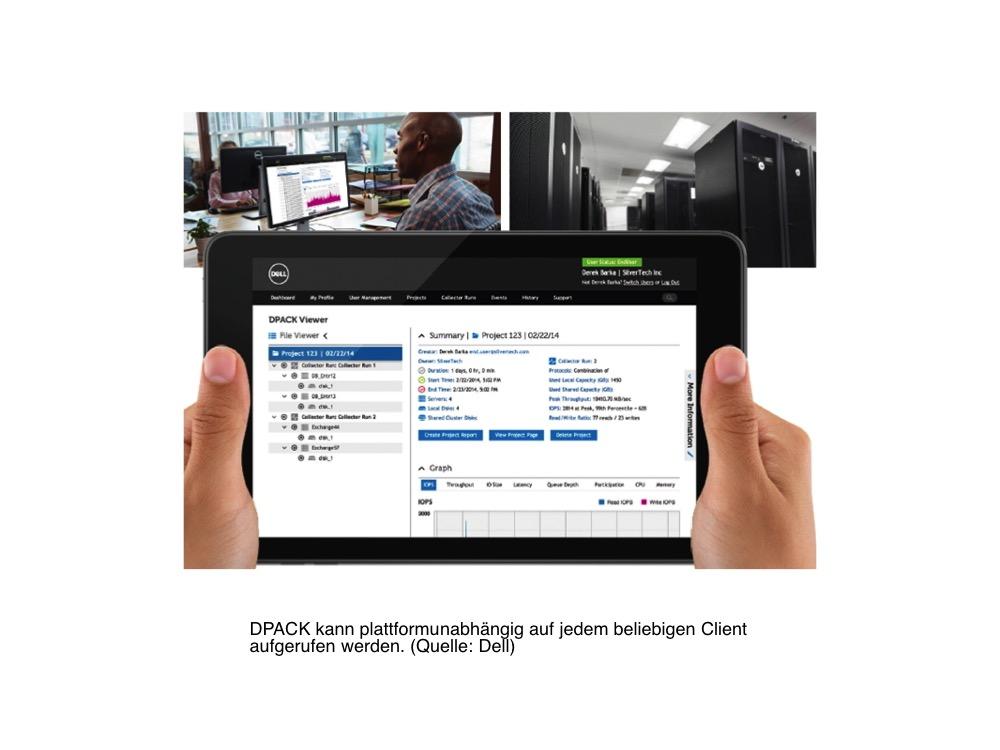 Der Browser-basierte DPACK-Portal-Viewer ermöglicht kostenlos eine Analyse der eigenen Systemlandschaft. (Bild: Dell)