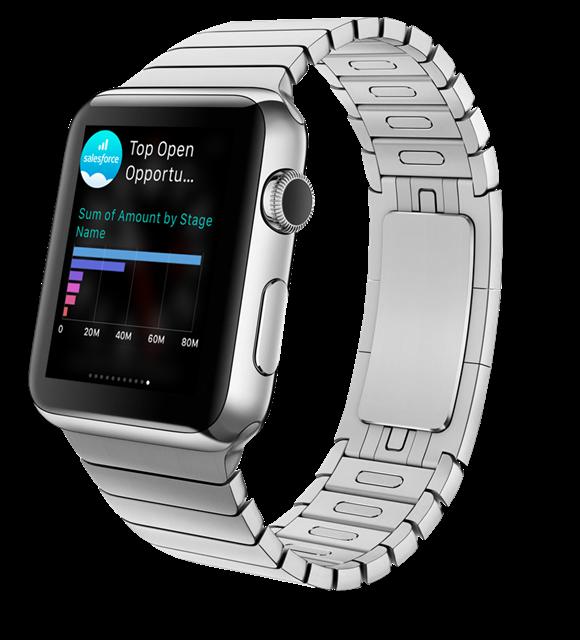 Salesforce Analytics auf der Apple Watch. Ohne mobile Anwendungen macht eine mobile Strategie im Unternehmensumfeld keinen Sinn, meint Joachim Schreiner, Area Vice President Central Europe bei salesforce.com.