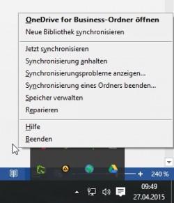 Anwender können Einstellungen für den OneDrive for Business-Client in Windows ändern. (Screenshot: Thomas Joos)