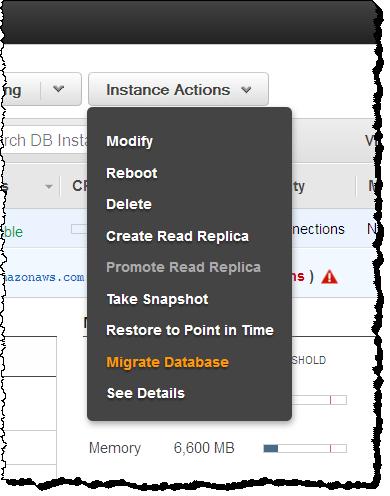 Automatische Migration von Datenbanken innerhalb von RDS auf Aurora. (Bild: AWS)