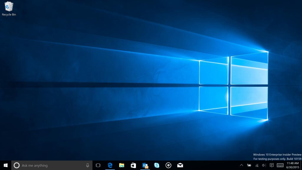 Build 10159 enthält das neue offizielle Windows-10-Wallpaper (Bild: Microsoft)