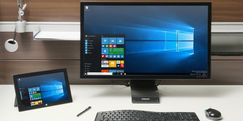 Windows 10 in Unternehmen. Viele werden wohl den Upgrade auf Windows 10 über Windows 7 oder Windows 8.1 vornehmen und damit die neue Version kostenlos bekommen. (Bild: Microsoft)