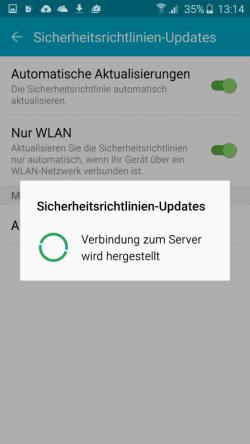 Durch automatisierte Aktualisierung der Sicherheitsrichtlinien lässt sich Samsung Knox auch vor Man-in-The-Middle-Attacken relativ zuverlässig schützen (Screenshot: Thomas Joos).