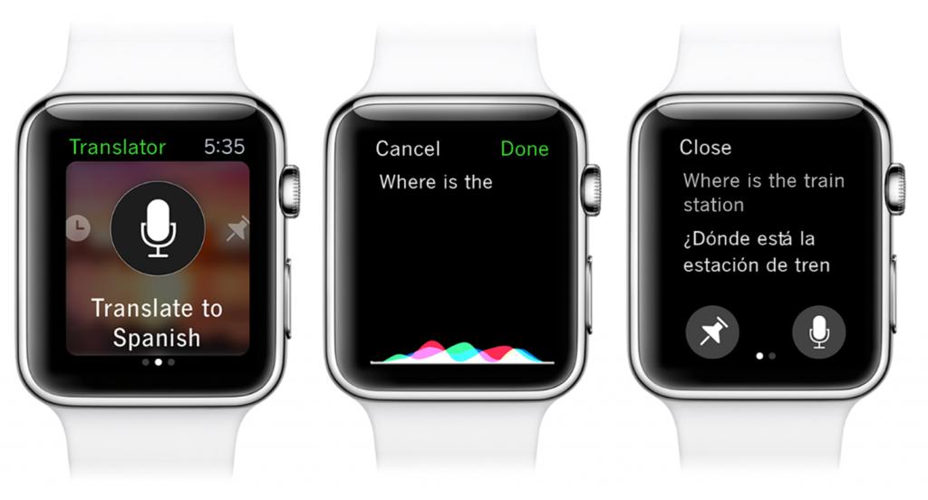 Der neue Microsoft-Translator für die Apple Watch unterstützt jetzt 50 Sprachen. (Bild: Microsoft)
