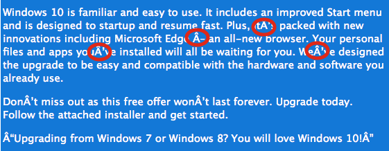 Cisco entdeckt gefälschte Windows-10-Mails. (Screenshot: Cisco)