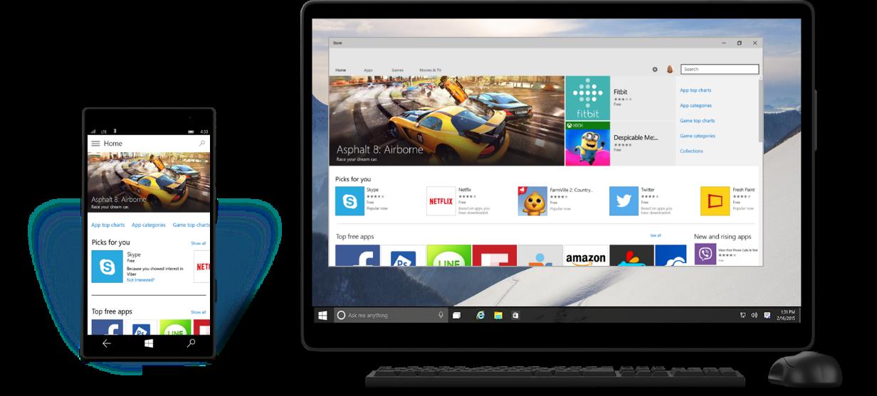 Windows 10 im Unternehmen mit  Universal App. (Bild: Microsoft)