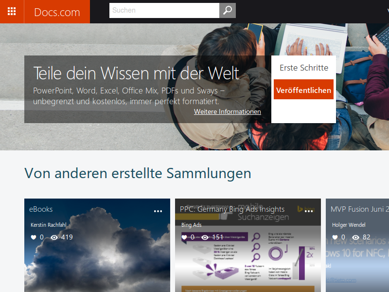 Microsofts Docs.com. (Screenshot: ZDNet.de)