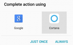 Cortana als Standard-Assistent in Android (Screenshot: ZDNet.com)