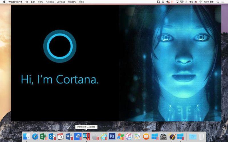 Microsofts Cortana auf Mac nutzen. Parallels macht es möglich. (Bild: Parallels)
