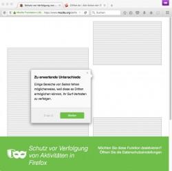 Firefox 42: Im privaten Surf-Modus blockiert Firefox nicht nur Tracking-Scripts, sondern auch damit verbundene Werbeanzeigen (Screenshot: ZDNet.de)