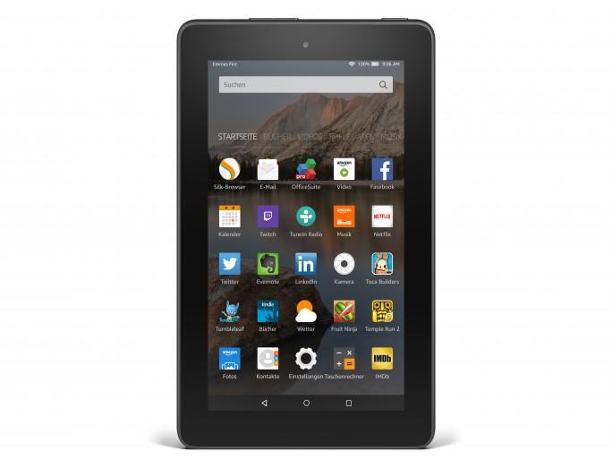 Mit Tablets wie dem günstigen Fire 7 hat sich Amazon als Nachzügler im Tabletmarkt schnell etabliert (Bild: Amazon).