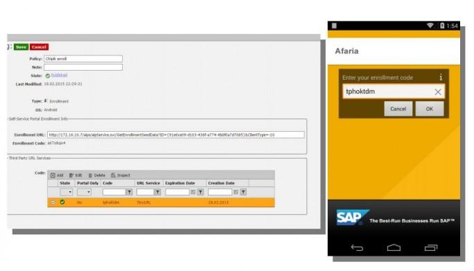 Verwaltung mobiler Geräte unter SAP Afaria. (Bild: ERPScan)