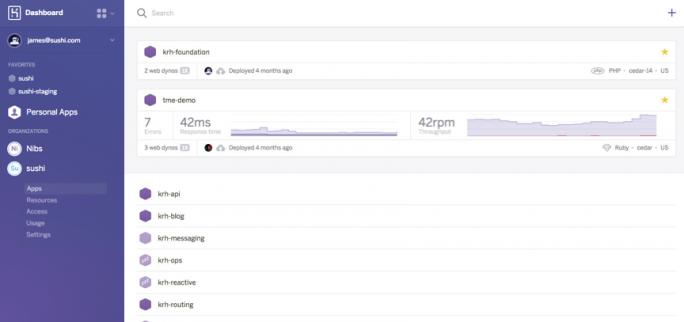 Heroku Enterprise biete Monitoring- und Verwaltungsmöglichkeiten. (Bild: Salesforce.com)