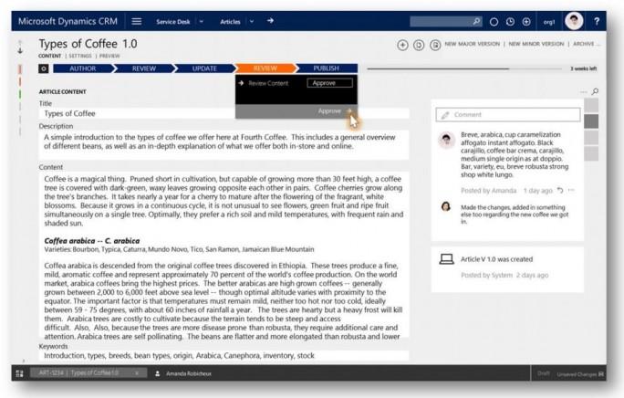 Auch die Knowledge-Base bietet neue Funktionen. (Bild: Microsoft)