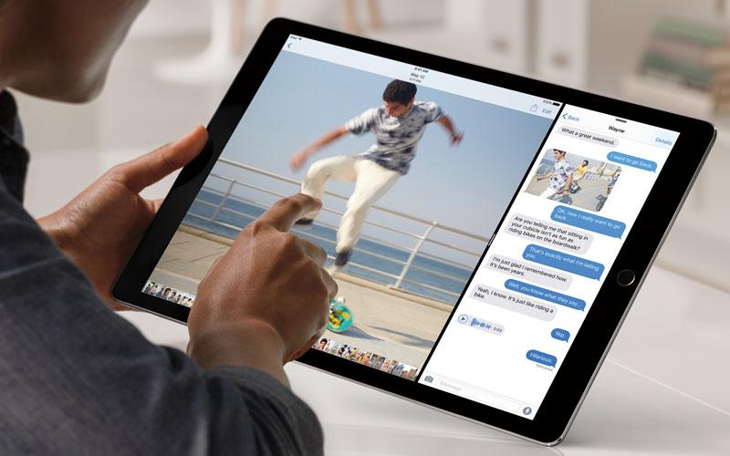 Etwas zu viel Blau verfälsche leicht die Farben auf dem Display des iPad Pro, daher gibt es von DisplayMate lediglich eine 1-. (Bild: Apple)