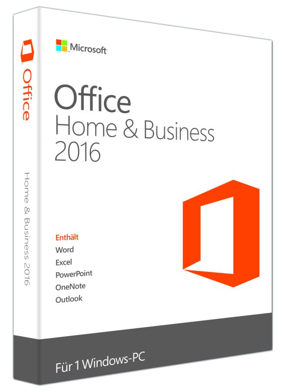 Microsoft Office Home & Business 2016 kostet im Einzelhandel 279 Euro (Bild: Microsoft)