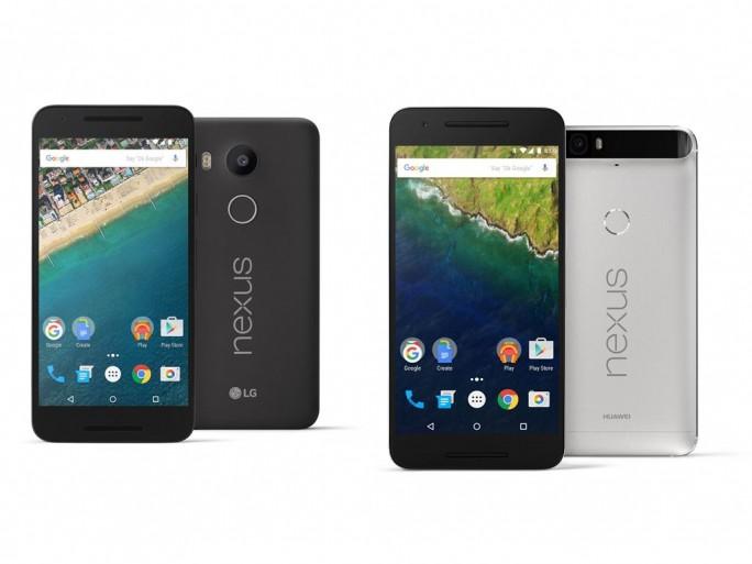 Das Nexus 5X (links) kommt von LG. Das Nexus 6P, Googles erstes Smartphone mit Metellgehäuse, hingegen kommt von Huawei. (Bild: Google)