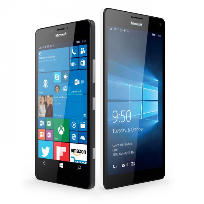 Microsofts neue Windows 10-Smartphones Lumia 950 und Lumia 950 XL. (Bild: Microsoft)