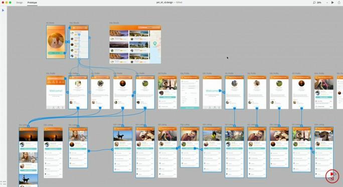 Abläufe einer App in Project Comet. (Bild: Adobe)