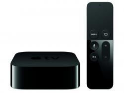 """Die vierte Generation von Apple TV kommt mit der neuen Fernbedienung """"Siri Remote"""" (Bild: Apple)."""