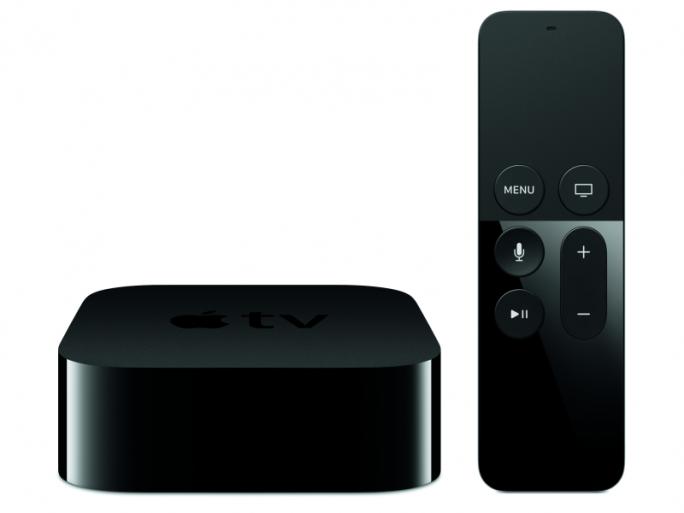 """ADie vierte Generation von Apple TV kommt mit der neuen Fernbedienung """"Siri Remote"""" (Bild: Apple)."""