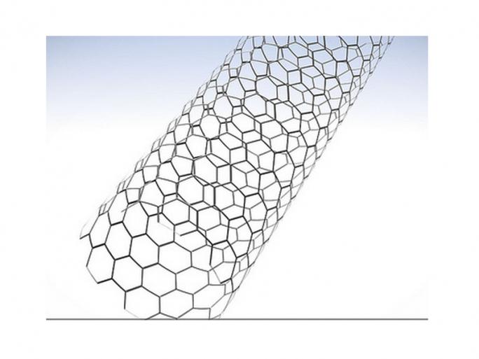 Schematische Darstellung einer Kohlenstoffnanoröhre. (Bild: IBM)