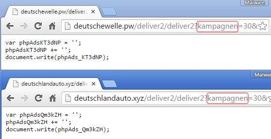 Über diese Server konnten sich die Angreifer in ein Ad-Serving-Netzwerk einbuchen und so die Schadosoftware über Anzeigen auf Ebay oder T-Online ausrollen. (Bild: Malwarebytes)