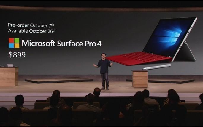 Microsoft stellt mit dem Suface 4 Pro das erste Notebook des Konzerns vor. (Screenshot: ZDNet.de)