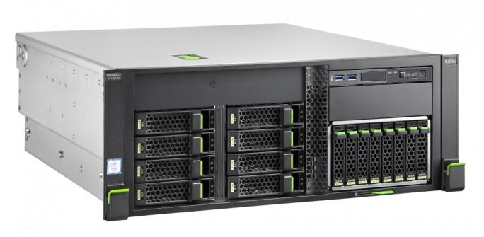 Primergy TX1330 M2 lässt sich über einen Tower-to-Rack-Umrüstsatz in ein Serverschrankmodell umbauen. (Bild: Fujitsu)