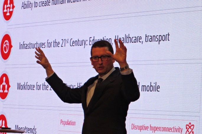 """Komplexität und Risiken nehmen für Unternehmen exponentiell zu"", sagt Fujitsu-Manager Duncan Tait, Director und Corporate Executive Officer, EVP und Head of EMEIA: (Foto: Mehmet Toprak)"