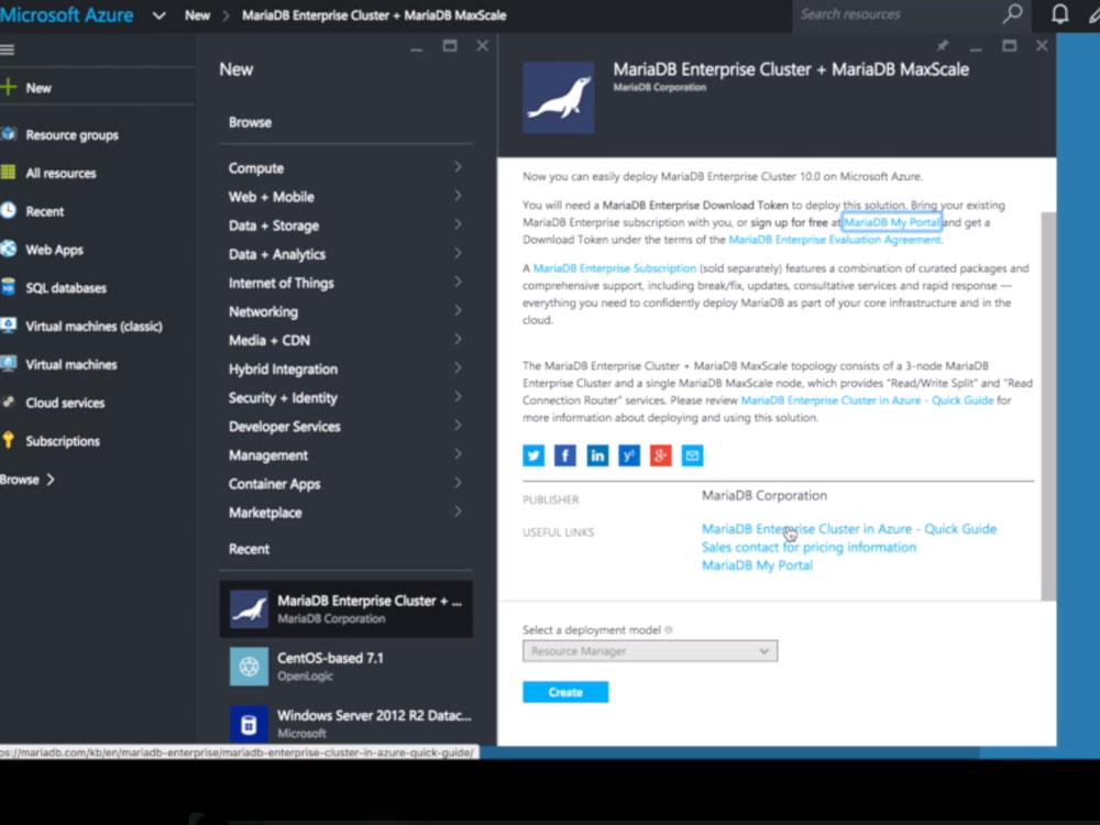 Innerhalb weniger Minuten lässt sich auf drei Knoten ein MariaDB Enterprise Cluster aufsetzen. (Screenshot: silicon.de)