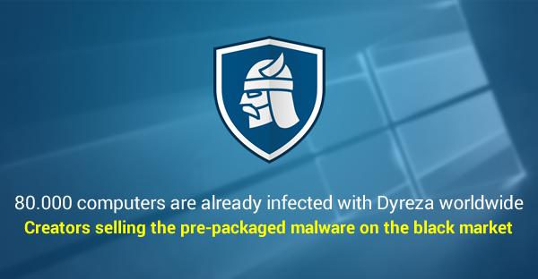 Dyreza verbreitet sich erfolgreich auf tausenden Rechnern. (Bild: Heimdal)