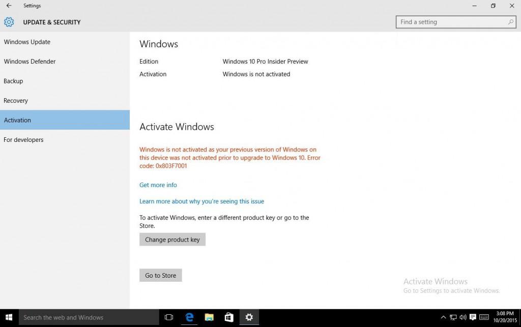 Der Wechsel von einer illegalen auf eine lizenzierte Windows-Kopie soll schon bald aus dem System selbst möglich werden. (Screenshot: Microsoft)