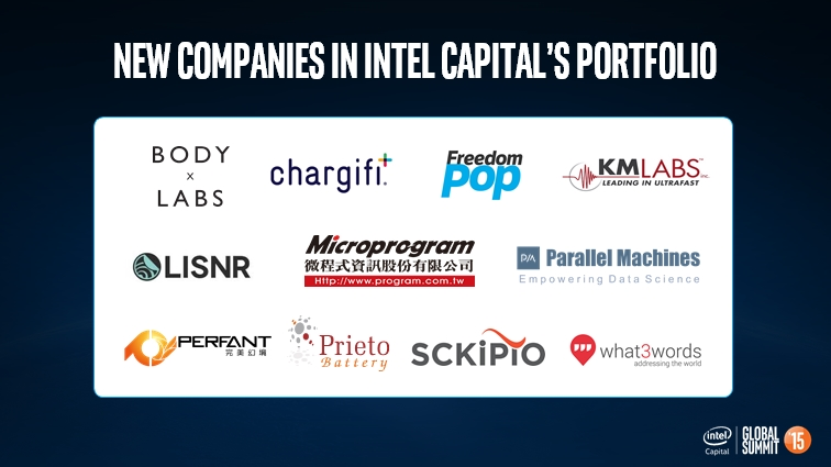 Die jüngsten Neuzugänge im Beteiligungs-Portfolio von Intel Capital. (Bild: Intel Capital)