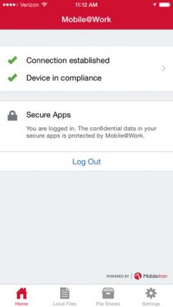 Zur Absicherung von iOS-Geräten wird auf iPhones/Tablets eine App für die Anbindung an MobileIron installiert. (Screenshot: Mobile Iron)
