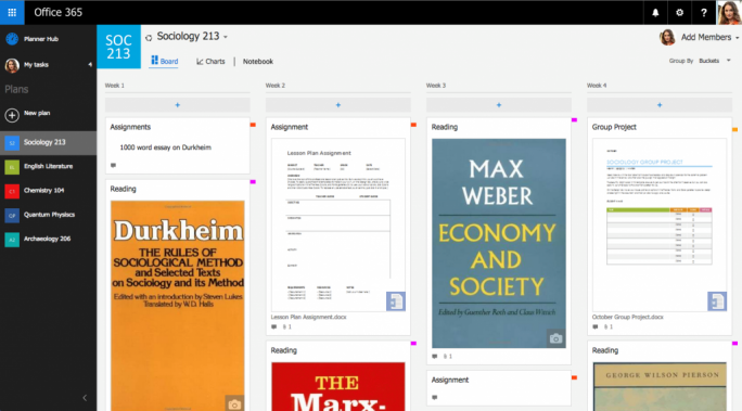 Laut Microsoft können auch Schulprojekte über Planner begleitet werden. (Bild: Microsoft)