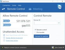 Remote Control Teamviewer-11 (Screenshot: Teamviewer)