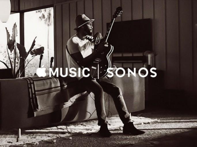 Apple Music wird ab Mitte Dezember auf Lautsprechersystemen von Sonos abrufbar sein (Bild: Sonos).schließen