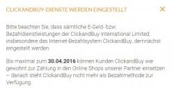 Clickandbuy stellt den Betrieb Ende April ein (Screenshot: ZDNet.de)