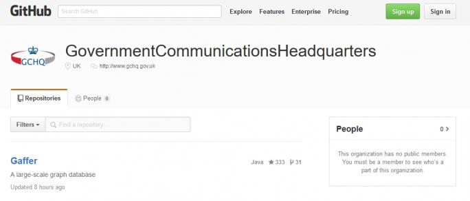 Der britische Geheimdienst GCHQ ist nur auch auf GitHub mit einem Repository vertreten. (Bild: TechWeekEurope)