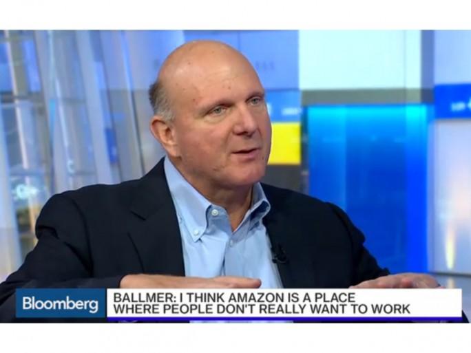 Steve Ballmer im Interview (Screenshot: ZDNet.de bei Bloomberg)