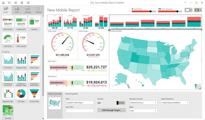 Mobiles Reporting mit dem SQL Server 2016. (Bild: Microsoft)