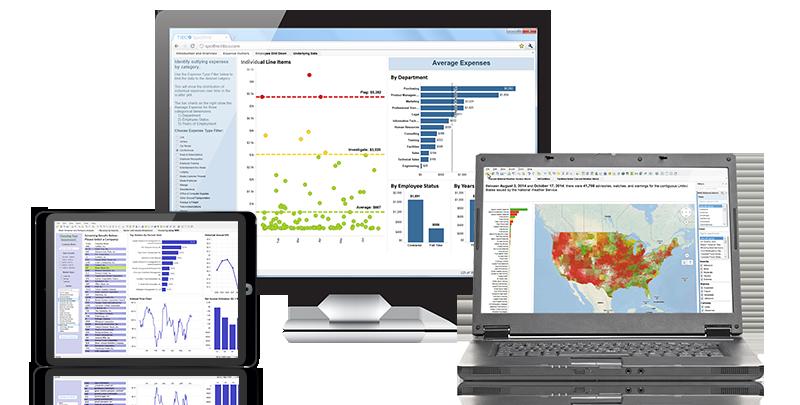 Zu Hause auf dem Desktop, Tablet und in der Cloud: TIBCO Spotfire verbindet komplexe Analysen mit einfach, schnell und effektiv zu nutzenden Tools, mit denen sich auch fachfremde schnell zurecht finden. (Bild: Tibco)
