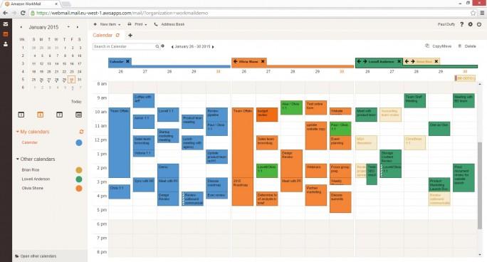 Die Kalender-Ansicht in WorkMail. (Bild: Amazon)